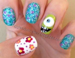 Cute! For more check out http://aggiesdoitbetter.blogspot.com/search/label/Nail%20Art?m=0 