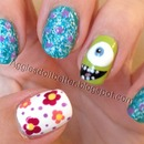 monsters inc / monsters U nails!