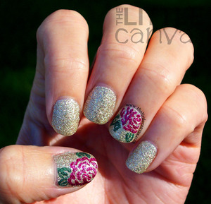 Inspired by @miss_prettynails on Instagram  - http://www.thelittlecanvas.com/2013/11/zoya-pixie-roses.html/