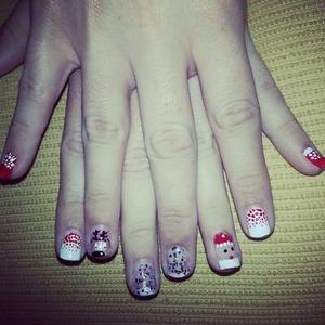 Nails Santa Claus