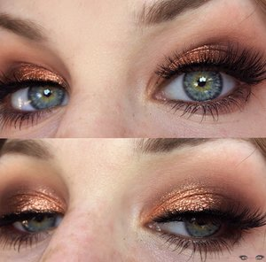 Decked out in sensual tones of light brown, and light copper :)! http://theyeballqueen.blogspot.com/2017/02/glamorous-warm-toned-copper-smokey-eye.html