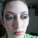 Green and Purple cut crease