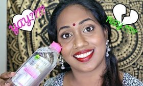 Ganier Micellar Cleansing Water YAY ???? or NAY ?????  | Makeupbyyamini