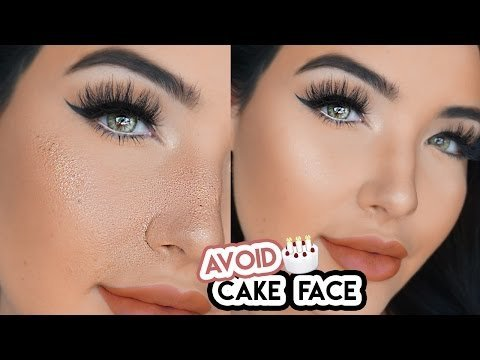 How to make foundation less cakey