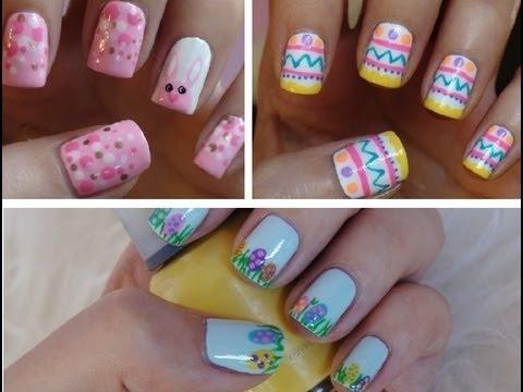 easter nail art ♥ three cute  easy tutorials
