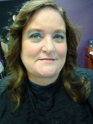 This is makeup I did on a client with Rosacea.