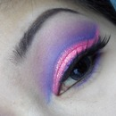 pink & purple cut crease