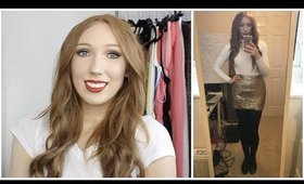 CHRISTMAS DAY - GRWM Talk Thru | MAKEUP, HAIR & OUTFIT!
