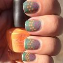 Neon Dots Nails