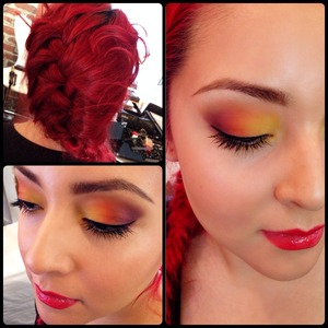 Vibrant beauty make up on my client and friend Lauren.