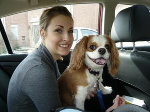 My sister Lauren and puppy Molly!