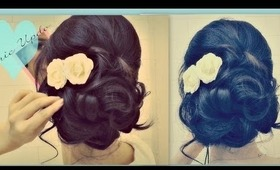 ★EASY PROM WEDDING HAIRSTYLES WITH CURLS  FORMAL UPDOS FOR MEDIUM LONG HAIR TUTORIAL   HOW TO UPDO