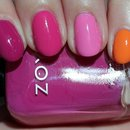 Nail Art: Zoya Skittle Manicure Using 4 Colours from the Surf & Beach Summer 2012 Collection