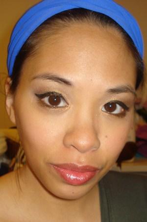 Fall 2011 Look Bronze Eyes and Burgundy Lips