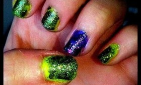 Grungy Neon Nails Tutorial