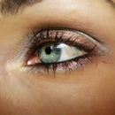 Grey and brown make up