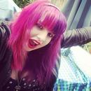half pink half purple hair