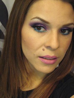 Purple Smokes w/a pop of blue