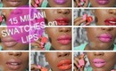 ♡ HD 15 Milani Lipstick ON LIP Swatches | Violet Volt,Flirty Fuchsia,Flamingo Pose