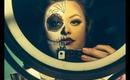 Sugar Skull & Half Glam face