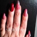 Hello kitty stiletto nails! :)