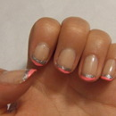 Pink/Silver sparkle tips