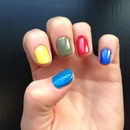 Multi coloured nails