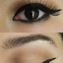 Brown Neutral W/Dramatic Eyeliner