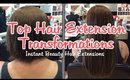 Top 25 Hair Extension Transformations - Before and After Hair Extensions | Instant Beauty ♡