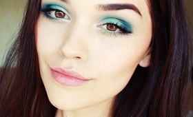 Teal and Turquoise makeup tutorial