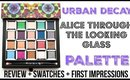 URBAN DECAY ALICE THROUGH THE LOOKING GLASS PALETTE | REVIEW + SWATCHES | SCCASTANEDA