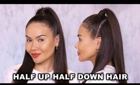 HOW TO: HALF UP HALF DOWN HAIR TUTORIAL | Maryam Maquillage