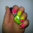 Neon yellow & Neon pink