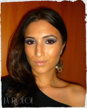 Smokey Eyes Look using black and purple. Suitable for any eye color.