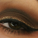 Brown Smoky Eye with Glitter