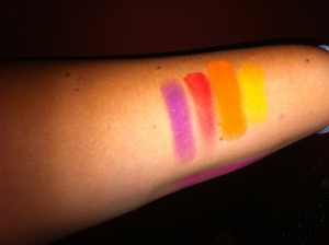Here are Swatches of the palette with flash and NO PRIMER!