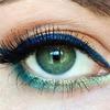 Beachy eye makeup