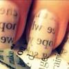 Adorable writing nails
