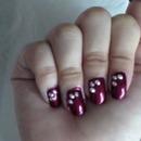Rhinestone/crystal inspired nail art