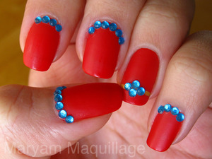 Vicious Rambunctious RED anti-Valentines nails http://www.maryammaquillage.com/2012/02/vicious-valentines-nails.html