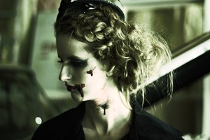 A frightful look for Halloween.  See the how to for the hair style here: http://youtu.be/ylGzhBTISCQ