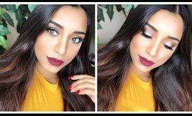 Fall makeup tutorial FT boxy charm.