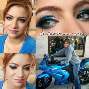 Inspired by my motorcycle I used I'd Electric Palette to create this look Tutorial will be up soon YouTube.com/kristind423OTMB
