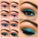 Turquoise makeup look pictorial