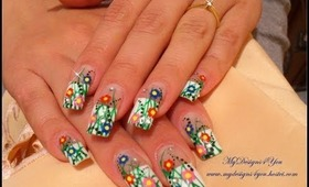 Easter, Spring, Flower Nail Art Design Tutorial + Matching Pedicure - ♥ MyDesigns4You ♥