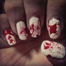 blood splash nails
