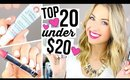 TOP 20 UNDER $20! || Sephora, MAC & Drugstore Beauty Products