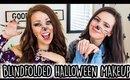 Blindfolded HALLOWEEN Makeup Challenge!