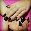 Black Nails/Nails/Matt/Mat
