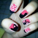 mickey minnie nail